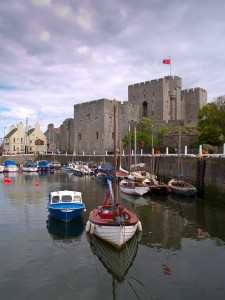 Castletown harbour and Castle